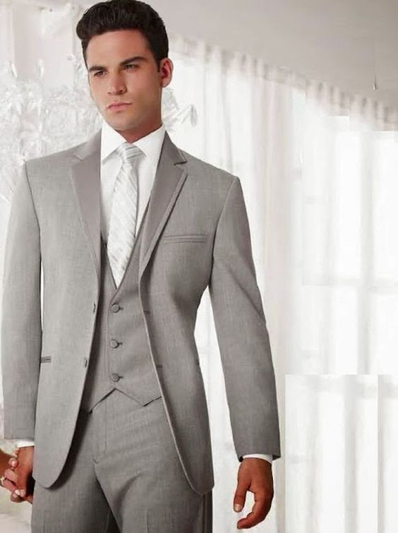 38364f3e08b 2017 Latest Coat Pant Design Grey Wedding Men Suit Prom Tuxedo Slim Fit  Skinny 3 Piece Groom Suits Custom Blazer Terno Masculino  Menssuits