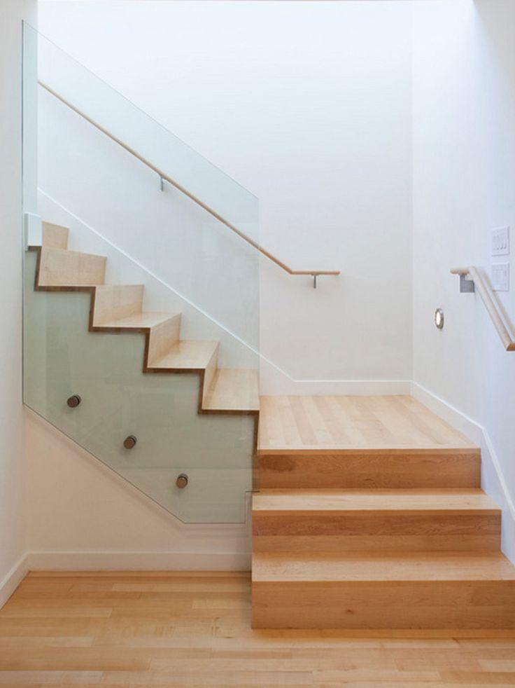 M s de 1000 ideas sobre barandales de vidrio en pinterest - Escaleras de cristal templado ...