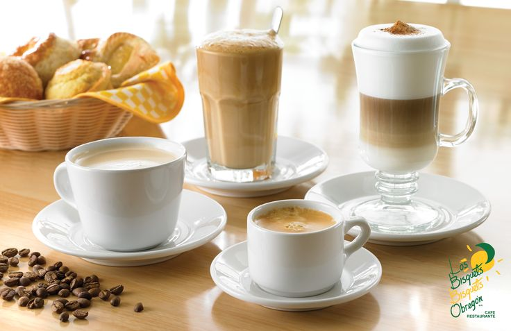 Cafés de #BisquetsObregón  #Expresso #Capuchino #CaféConLeche #CaféAmericano