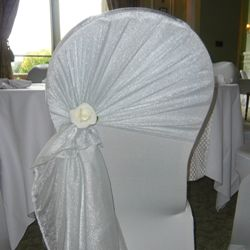 Organza chair tieback hire for lycra, stretch chair covers in ...
