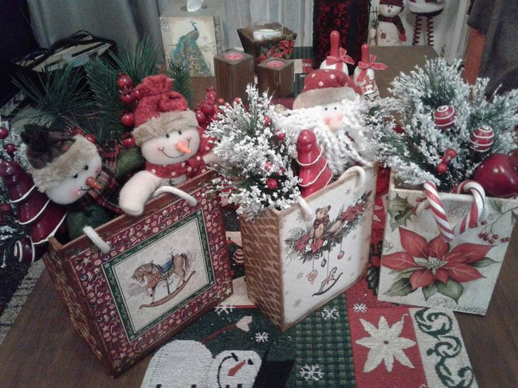 christmas decoupage
