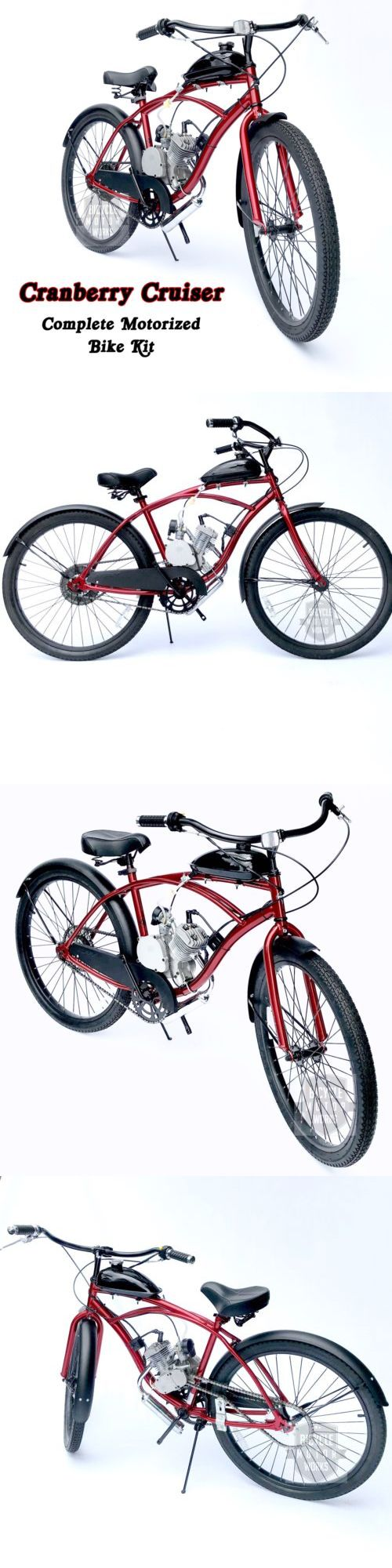 Gas Scooters 75211: Cranberry Cruiser - Motorized 66Cc Engine And Cruiser Bicycle Kit - Build Yourself -> BUY IT NOW ONLY: $259.99 on eBay!