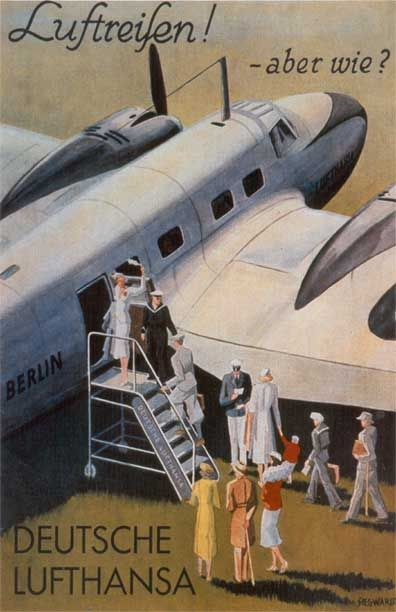 vintage lufthansa travel posters -