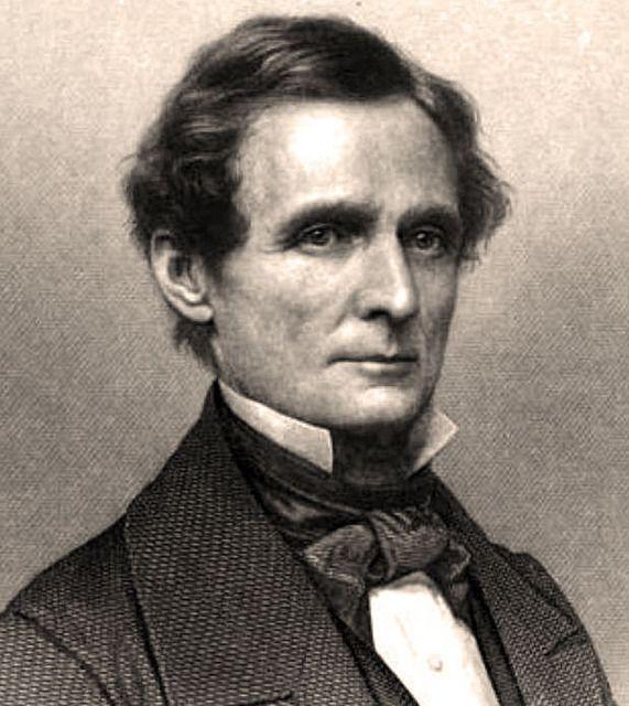 Jefferson Finis Davis, engraved portrait, 1861