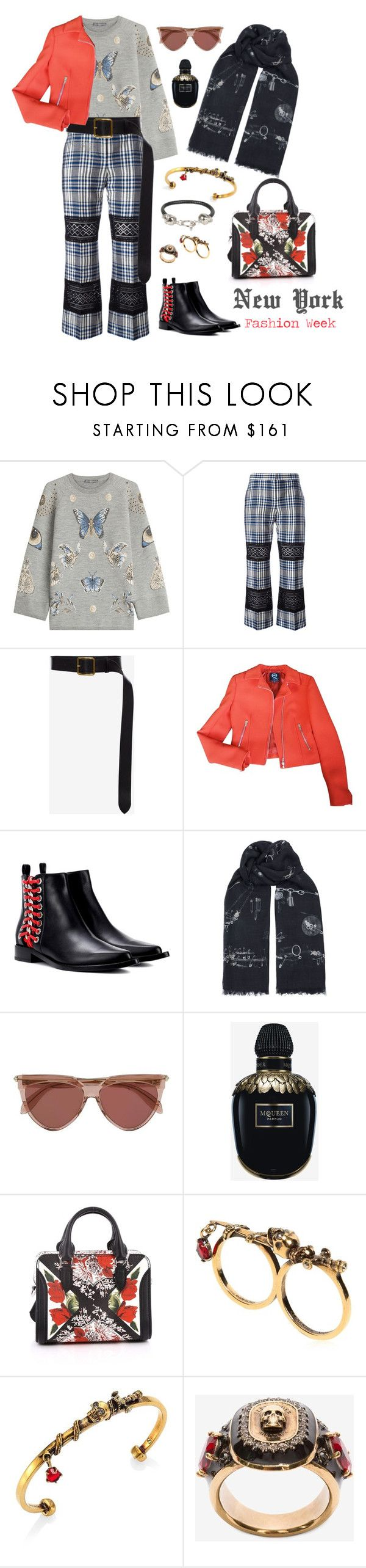 """""""Walk On Alex!"""" by afifahafifa on Polyvore featuring Alexander McQueen, NYFW and AlexanderMcQueen"""
