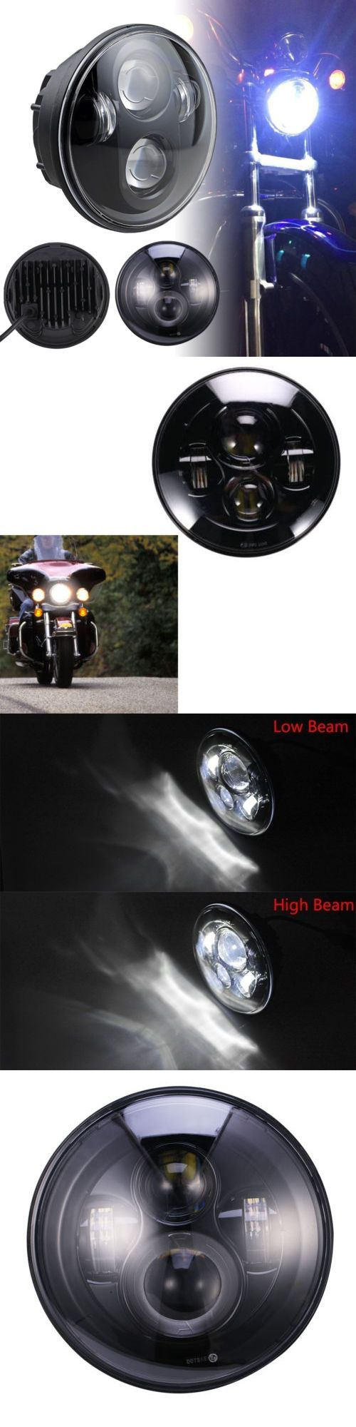 motorcycle parts: 5.75 45W 5 3 4 Motorcycle Led Headlight Daymaker Projector Bulb For Harley -> BUY IT NOW ONLY: $39.89 on eBay!