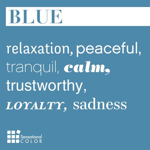 Words That Describe Blue - Sensational Color