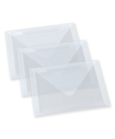 Look what I found on #zulily! Clear Plastic Envelope - Set of Three #zulilyfinds