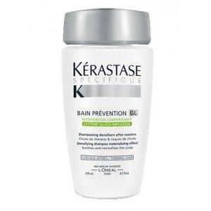 Kerastase specifique bain prévention gl 250ml a 10,95 € IVA incluido.    Baño de uso frecuente para cueros cabelludos con tendencia o problemas de caída.