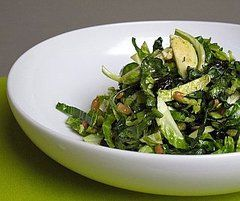 I made this for dinner tonight!! SO good!!! Shredded kale and Brussels Sprouts Salad