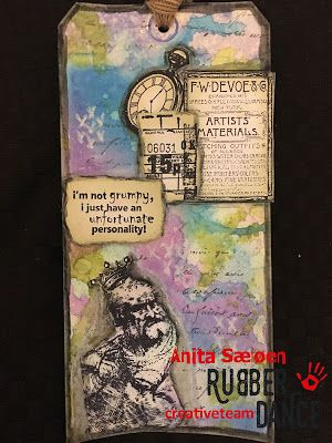 * Rubber Dance Blog *: Vintage Mixed Media Tag