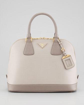 Prada Saffiano Bicolor Dome Bag - Neiman Marcus https://www ...