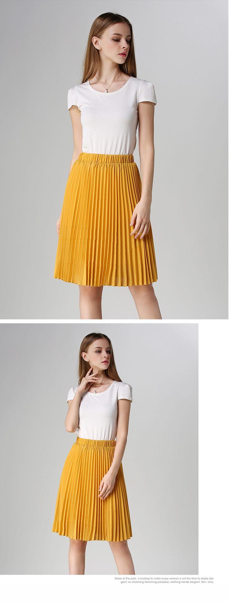 Alta Gasa de La Cintura Faldas Para Mujer 2016 Otoño de La Manera Longitud de La Rodilla A line Saia Midi Falda Plisada Elegante Gris Rosa de Tul Falda en Faldas de Ropa y Accesorios de las mujeres en AliExpress.com | Alibaba Group