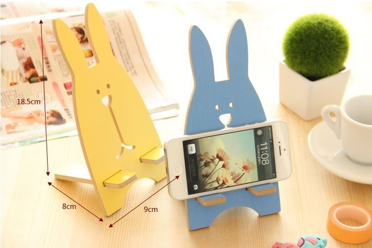 Conejo creativo encantador madera del sostenedor del teléfono para cualquier teléfono móvil sostenedor del teléfono del soporte Stents por Tablet envío gratis en Soportes de Telefonía en AliExpress.com | Alibaba Group