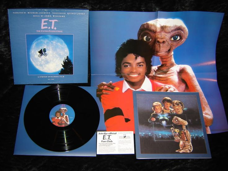 E.T. Storybook & Record Narrated by  Michael Jackson On Vinyl