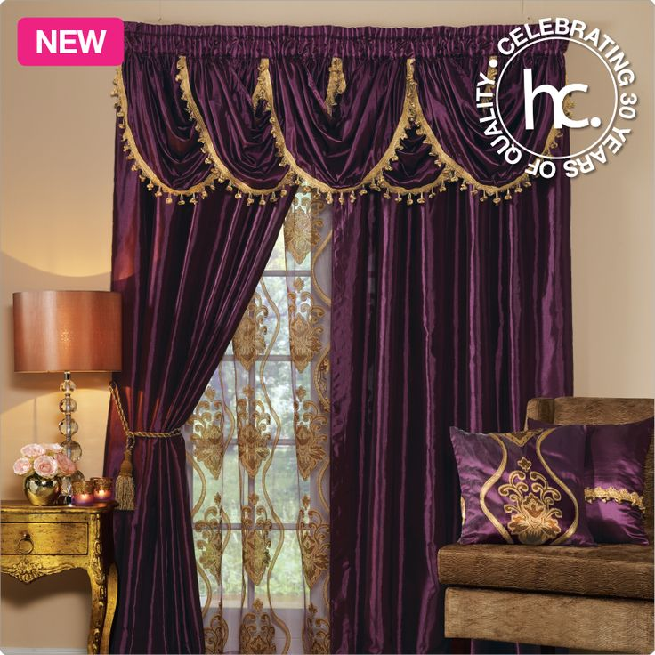 The Zarita satin curtains bring you decorative gold satin style with a satin valance featuring tassled edges.