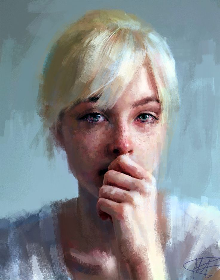 Wow. Just wow. Such emotion in this #portrait #art by Ivana Besevic