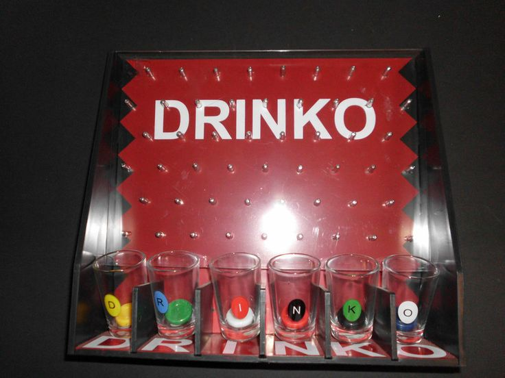 Drinko Adult Shot Drinking Game with Shot Glasses  Mancave Party Game