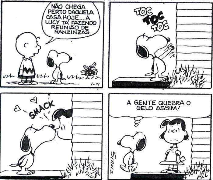 + Tirinha : Pense nisso! ;) Uma boa noite para todos! Snoopy por Charles Schulz