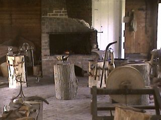 A view of Blacksmith Shop at George Washington's Birthplace National Monument in Colonial Beach. George was born here in 1732.