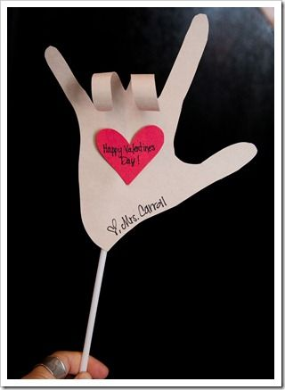 I love you valentine!!!!! AWESOME! just use a pencil to roll the two fingers down. - Re-pinned by @PediaStaff – Please Visit http://ht.ly/63sNt for all our pediatric therapy pins	: Holiday, Craft, Idea, Valentine Day Cards, Valentines Day, Valentinesday, Sign Language, Valentine S, Kid