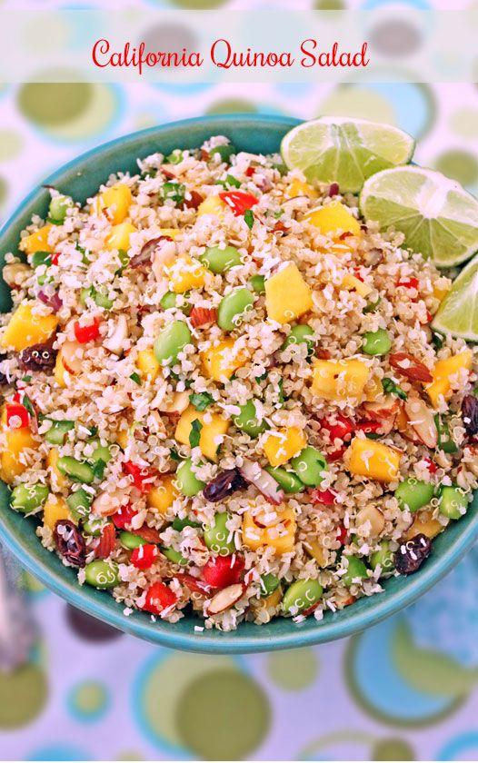 California Quinoa Salad (Whole Foods Copycat) #vegan #glutenfree