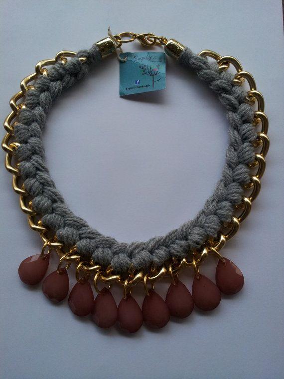 Statement Necklace Gold chunky chain by Nefelislittlestore on Etsy, €22.00
