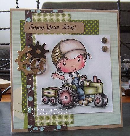 La-La Land Crafts Inspiration and Tutorial Blog: Luka on Tractor