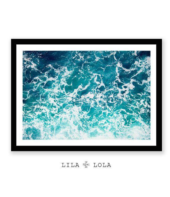 Ozean-Print Ozean Kunst Ozean Wellen Wand von LILAxLOLA auf Etsy