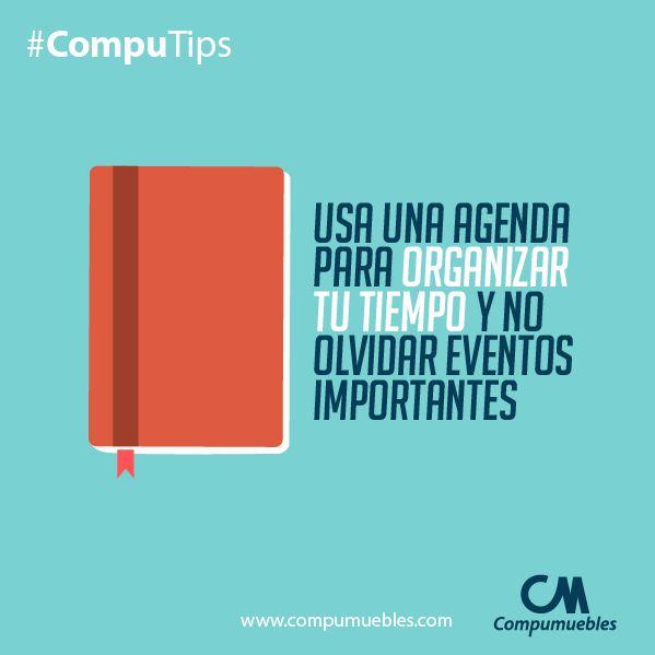 ¡Super importante tener una agenda a la mano! Si no la tienes puedes usar la agenda de tu celular. ¡Sé organizado! www.compumuebles.com