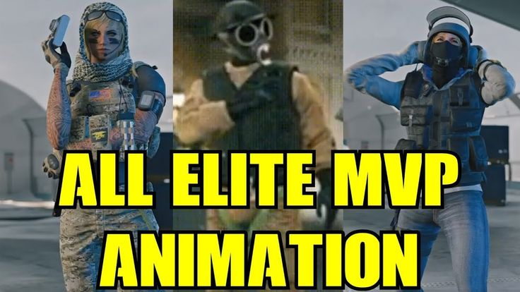 Rainbow Six Siege All Elite Skins MVP Animation & Leaked ...