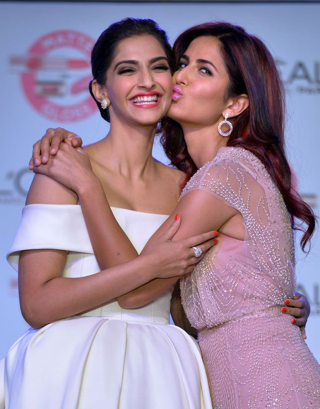 Katrina Kaif and Sonam Kapoor seen together at an event organised by L'Oreal
