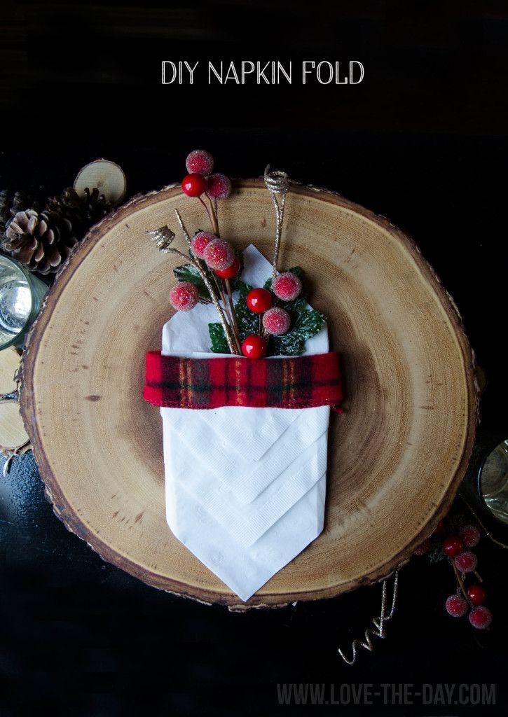 DIY Napkin Folding by | Fall Decorating | Napkin folding ...