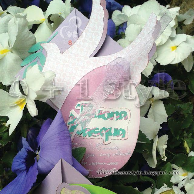 Biglietto di Pasqua fai da te - DIY Easter crisscross card