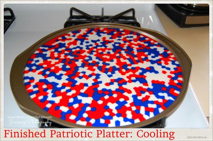 PIZZA PAN PATRIOTIC PLATTER COOLING