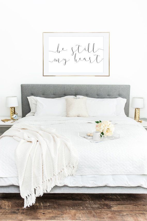 YOU PRINT PRINTABLE Wall Art, Be Still My Heart, Nursery Decor, Home Decor, Printable Poster, Above Bed Decor (1) 36×24 Jpeg