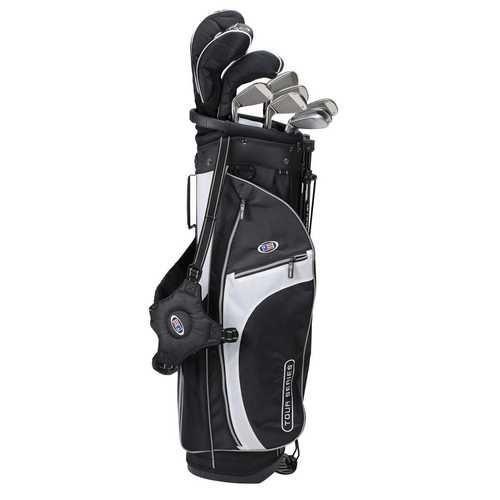 US Kids Golf Tour Series V5 10 Club Stand Set - Black/White/Silver