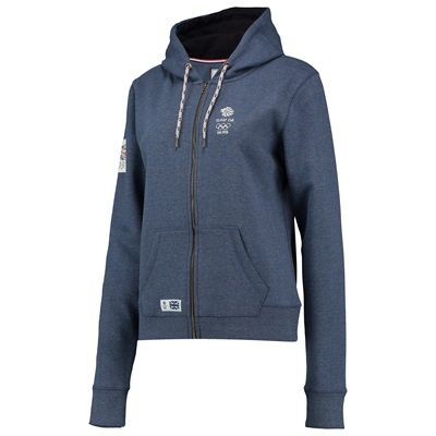 Team GB 1905 Logo Hoodie - Ladies - Denim Blue