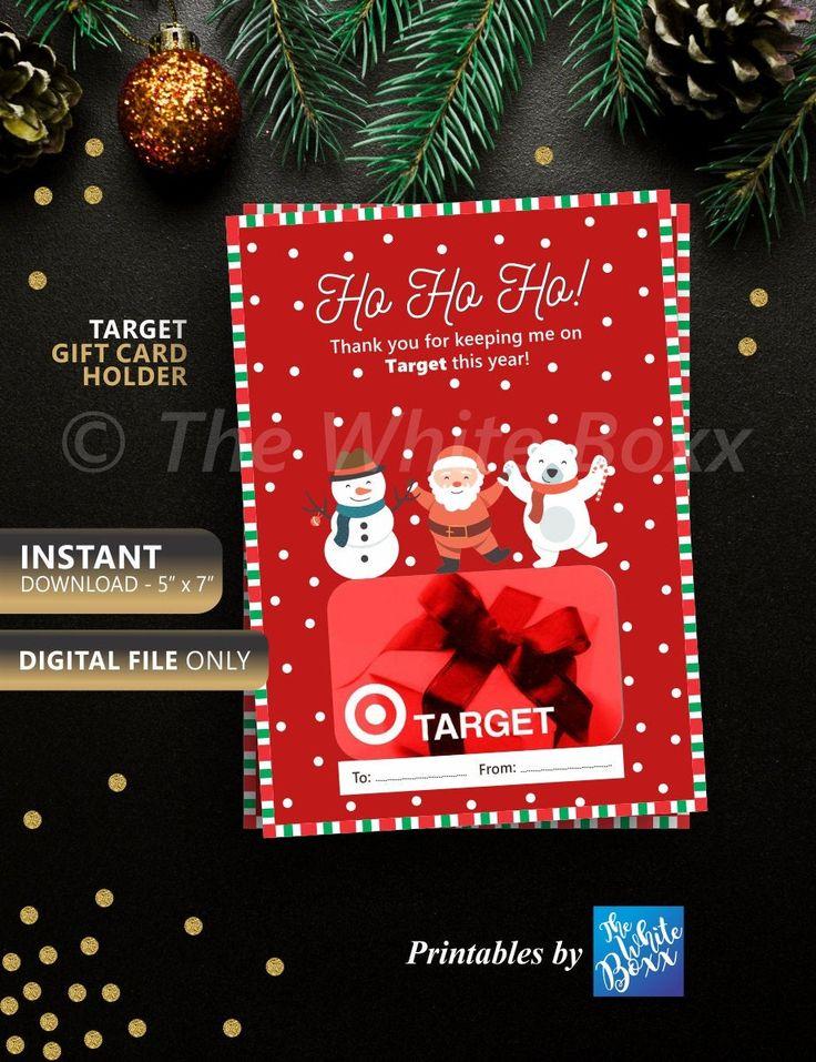 Christmas Gift Card Holder, Target Gift Card Holder
