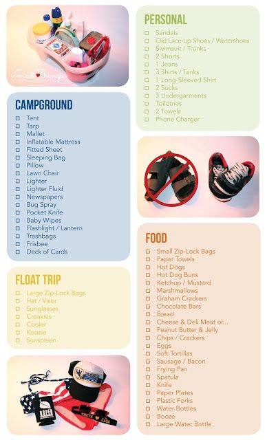 Packing List for a Weekend Float Trip // Small ♥ Things