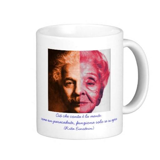 Tazza di Rita Levi Montalcini ed Albert Einstein Coffee Mugs