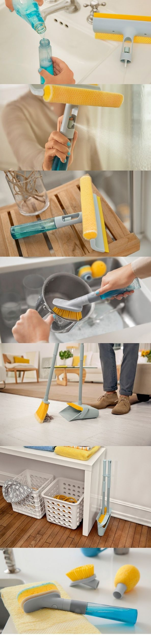 Everything has the scope to be well designed. Even the most mundane objects in your life can come alive through good design. The #Cleaning Kit is a snazzy looking set of cleaning #tools that do their job with precision. #YankoDesign #Living