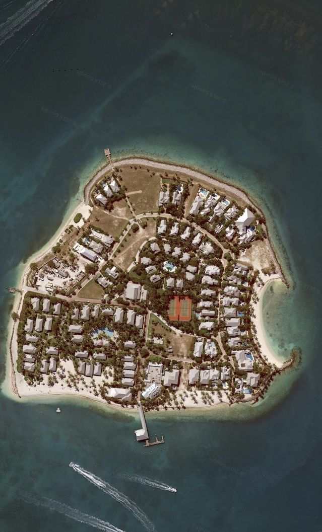 Satelital. From the Sky. Sunset Key,Florida Keys,Miami