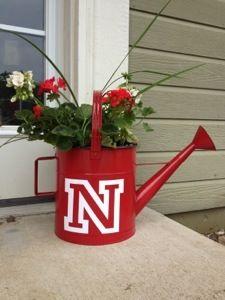 Flowerpot makeover! NE Huskers style!  University of Nebraska Cornhuskers - Yay!