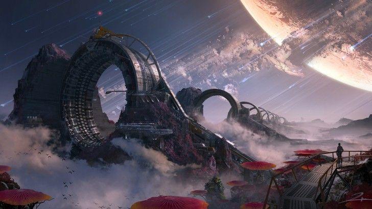 Titanfall 2 Game Art Sci Fi Landscape Wallpaper Environment Concept Art Concept Art Fantasy Landscape