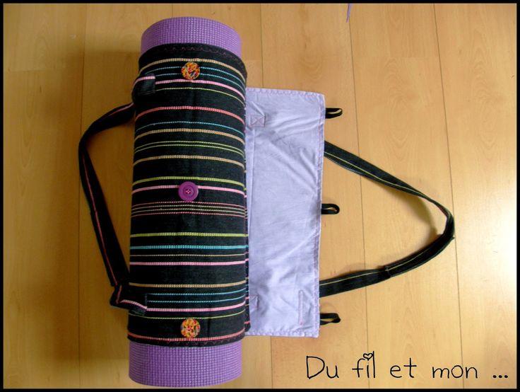 Du fil et mon...: Sac pour tapis de yoga ou gym couture facile