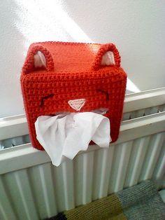 Ravelry: Crochet Cat Tissue Box Cover pattern by Ana Yogui, free pattern, #haken, gratis patroon (Engels), kat, tissue doos, decoratie, #haakpatroon