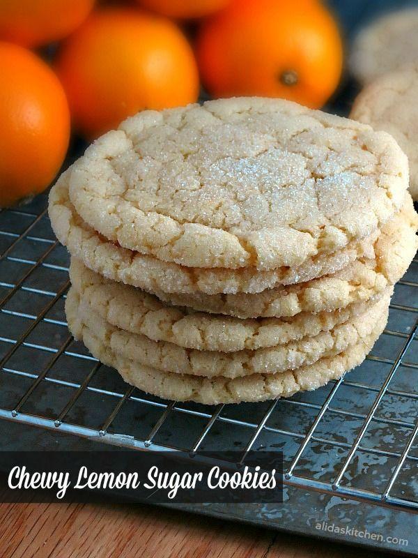 Chewy Lemon Sugar Cookies #food #yummy #delicious