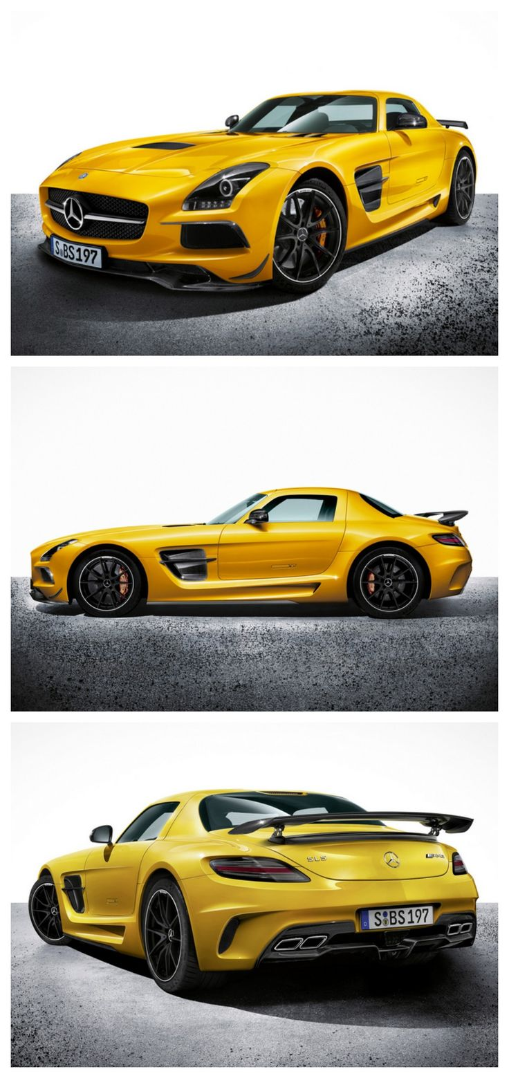 One of a kind 2014 Mercedes Benz SLS Black Series Solarbeam #AutoAwesome