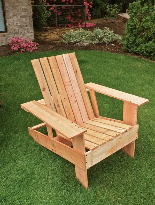 Diy pallet adirondack chair step by step tutorial for Pallet armchair